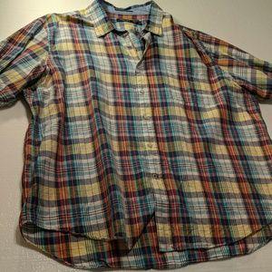 Nautica plaid shirt sleeve button XXL